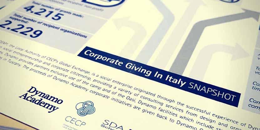 Filantropia d'impresa: presentata la 2^ edizione di Corporate Giving in Italy