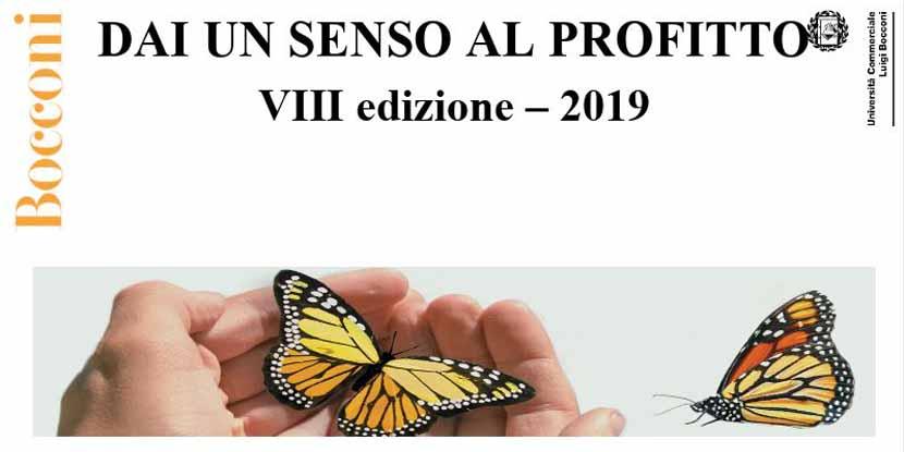 """""""Dai un senso al profitto"""" 2019 – VIII ed. – Progetto CERGAS Unibocconi"""