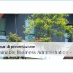 Master in Sustainable Business Administration - Presentazione - Evento Altis