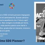 SDG Pioneer Italy, con Global Compact Network Italia - entro 15 ottobre