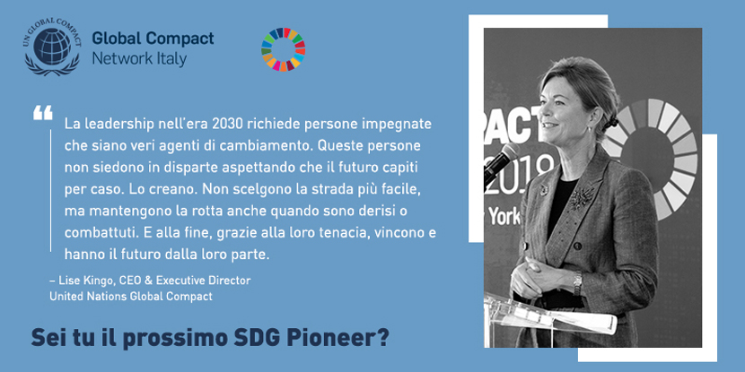 SDG Pioneer Italy, con Global Compact Network Italia – entro 15 ottobre