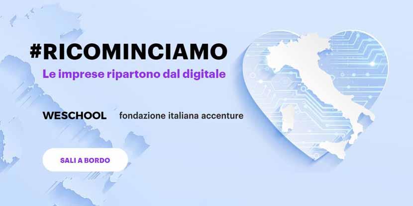 Ricominciamo insieme, dal digitale – con Fondazione Accenture e WeSchool